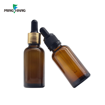 High quality 5ml 10ml 15ml 20ml 30ml amber essential oil glass bottle with brush screw cap wholesale