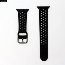 Ремешок URVOI для apple watch 5 4 3 2 1, ремешок для iwatch NIKE, силиконовый спортивный ремешок 40 мм 44 мм, аксессуары для часов 40 мм, мягкий дышащий(Китай)