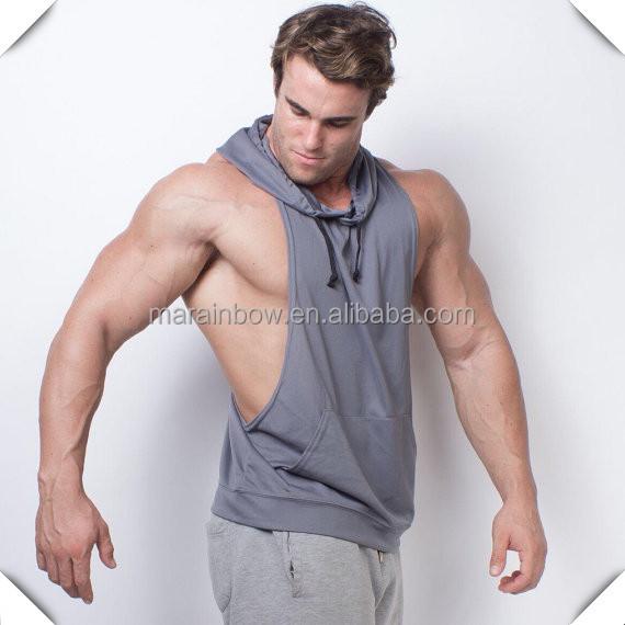 1fb1aeb08 100% Polyester Dry Fit Mens Racerback Muscle Hoodie Stringer Tank Top Gym  Stringer Hoodie Deep Cut Bodybuilding Hoodie, View Men's Dry fit Polyester  ...