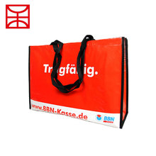 Red color takeaway pp woven reusable plastic Shopping Bags