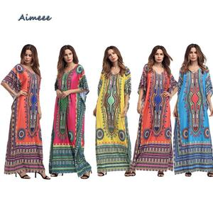 2018 Sexy African Printed Dresses Dashiki And Summer Dress