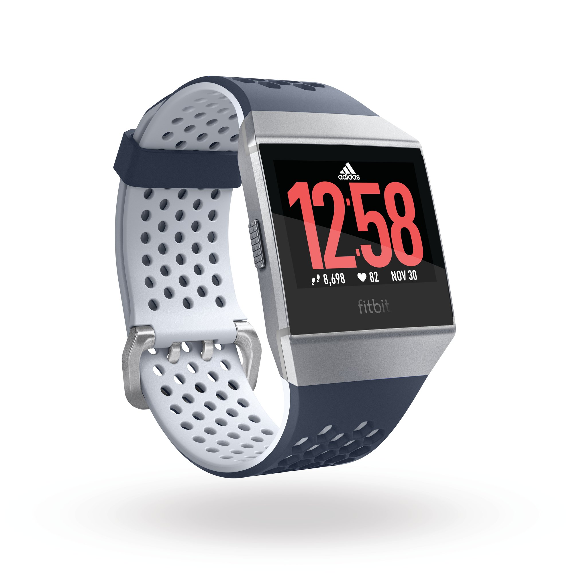 e789f3c64 discount code for get quotations fitbit ionic adidas edition ink blue ice  gray silver gray one