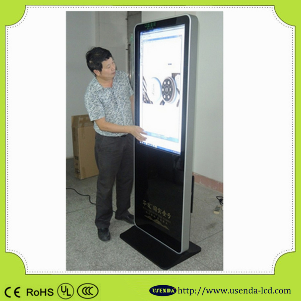 55inch standing advertising ad display android touch screen digital signage screen on wheels