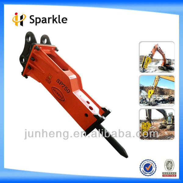 Hydraulic hammer drill for 6-9ton excavators (Box-silenced)