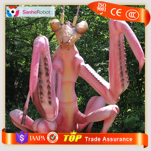 New item artificial handmade insect life size giant fiberglass model for amusement park