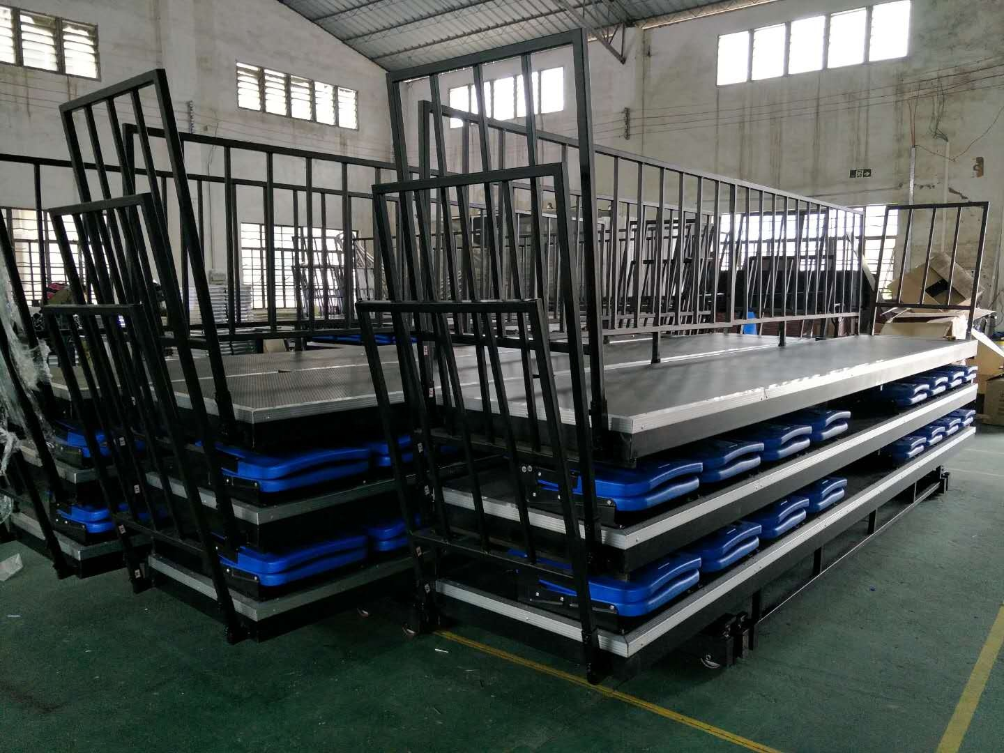 Best price used aluminum student bleachers sport portable grandstand indoor gym bleachers
