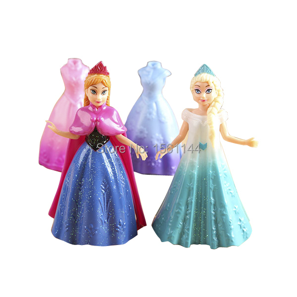 4 pcs lote princesse magiclip elsa anna de arendelle brinquedo la reine des neiges enfants. Black Bedroom Furniture Sets. Home Design Ideas