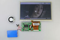 "7"" LCD Video brochure Card module with touch screen"