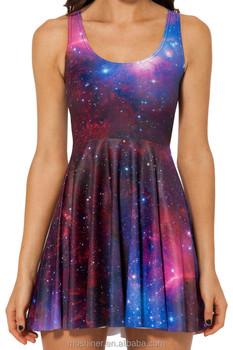 2015 Latest Dress Designs,Prom Dress Women Summer Dress Galaxy Elements  Digital Printing Dress,Plus Size Dress - Buy Latest Dress Designs,Summer ...