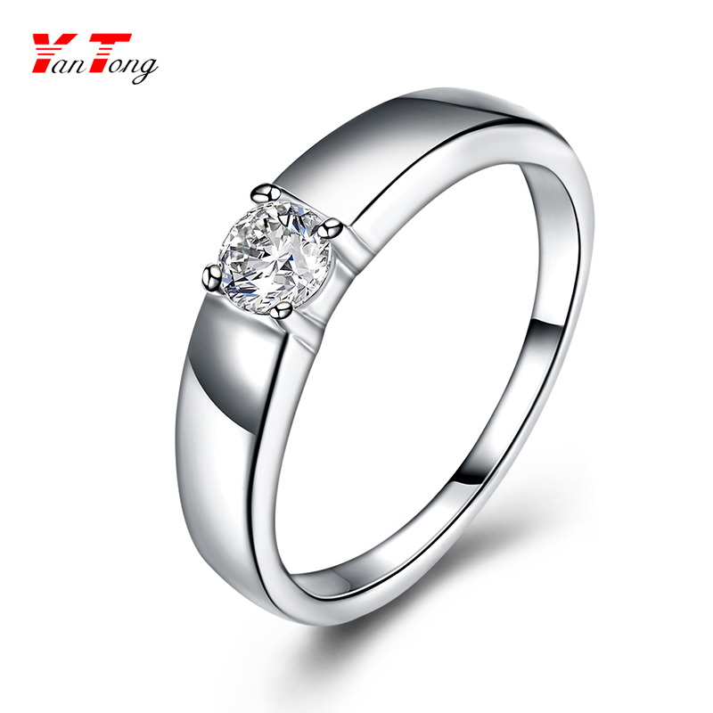 Wholesale Eternal Jewelry Ring Silver With Clear Cz Diamond Vintage 925 Silver Ring
