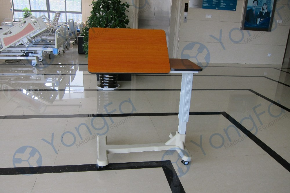 YFT-004 Wood Movable Over Bed Table