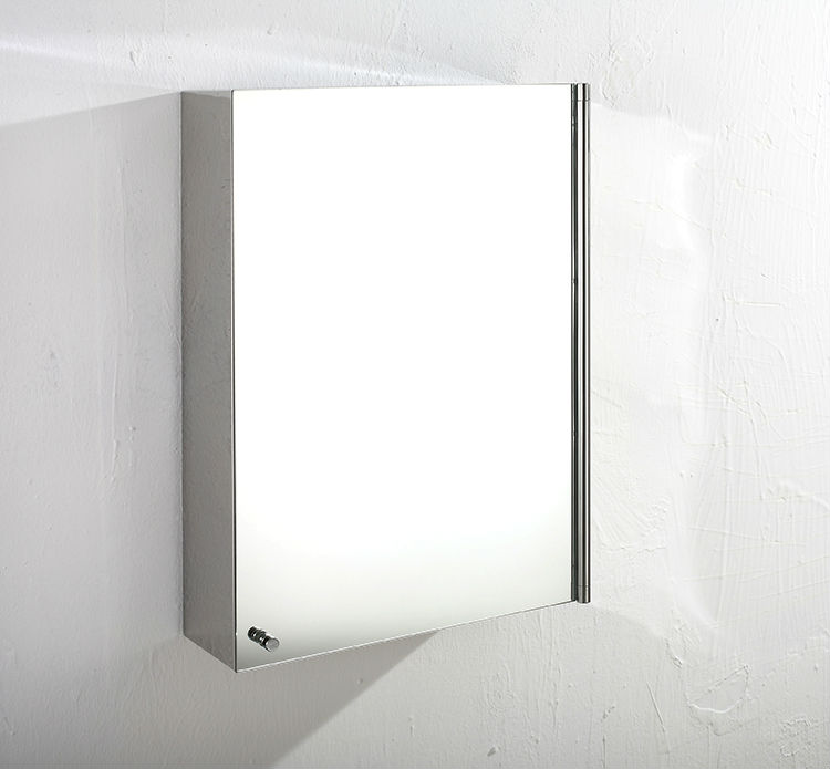 stainless steel wall mounted corner bathroom mirror cabinet 7017