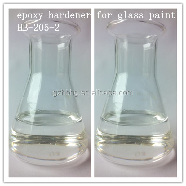 Fast curing epoxy hardener for glass paint HB205-2
