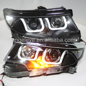 2014 Year For Ford Edge LED Headlight front lamp for Edge U style car lights Black Housing LD