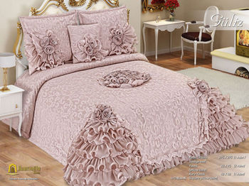 guliz bedspread set buy embroidery bedspread turkish. Black Bedroom Furniture Sets. Home Design Ideas