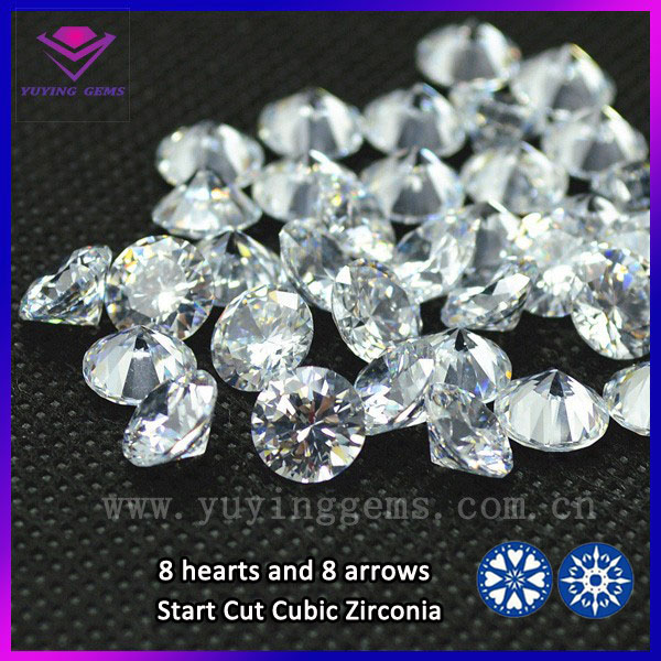 2mm White Cubic Zirconia In Stock Round Shape Artificial CZ