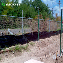 Factory price PP woven geotextile silt fence for garden