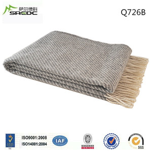 Made in China comfortable Wool Throw Blanket 100%