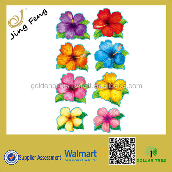 Dollar Tree Store Hot Selling 8PK Summer Luau Party Paper Cutouts Decoration/Window Flower Items Paper Decoration