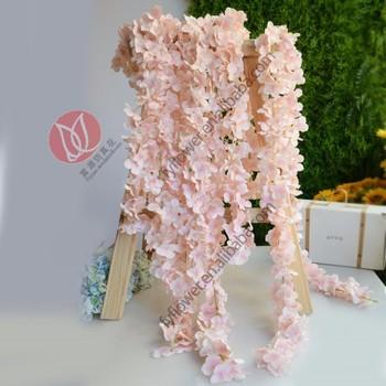 Plastic Silk Wisteria Artificial Flower Wedding Garland For Wedding