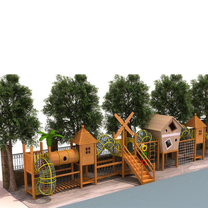 2015 Kaip used kids outdoor wooden playground slide