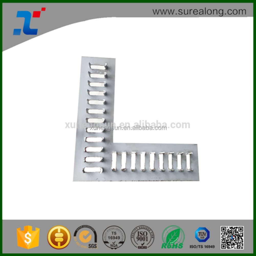 L sharped Truss Plate Steel Bracket For Timber