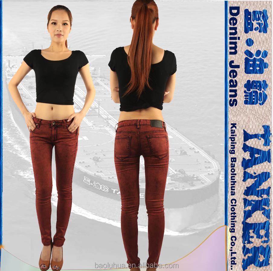 S1057 2 Skinny Women Girls Snow Wash Overdyed Red Denim Jeans Buy Girls Women Lady Skinny Tight Fit Jegging Tinted Red Jeanshand Craft Denim Girls