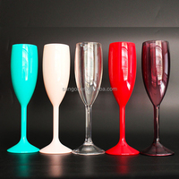 Customized 5oz Plastic Picnic Party Supply Champagne Goblet