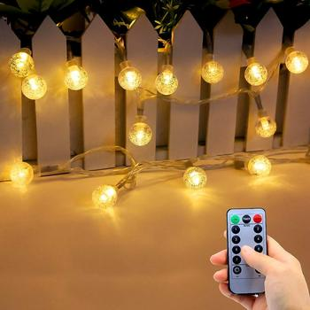 Battery Operated String Lights Indoor Outdoor 33fft 80leds Crystal Globe Led Fairy Lights With Remote Control Buy Led Fairy Lights Battery Operated