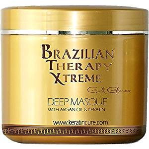 KERATIN CURE - Deep Hair Reparation Masque BTX Pina Colada with Argan Oil - Shea Butter 1000 g / 32 Oz Conditioning Moisturizing Hair Treatment