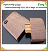 High quality Walnut Wood Case For Samsung Galaxy s4, for samsung s4 wooden case