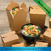 factory brown kraft paper take away paper noodle salad rice soup box