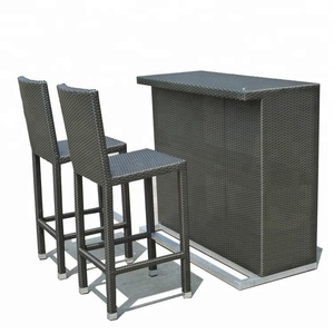 Professional out door bar table chairs modern furniture designer