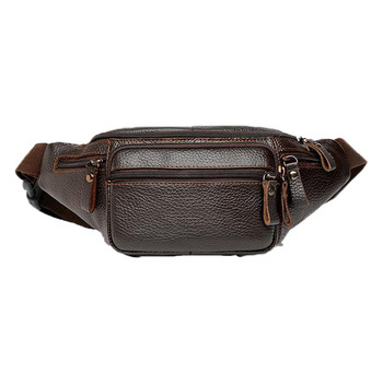 2019 Men`s Travel Funny Pack Leather Waist Bag
