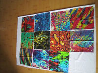 Colorful silk scarf wholesale wisdom flower high-end art cultural pure silk SWS233