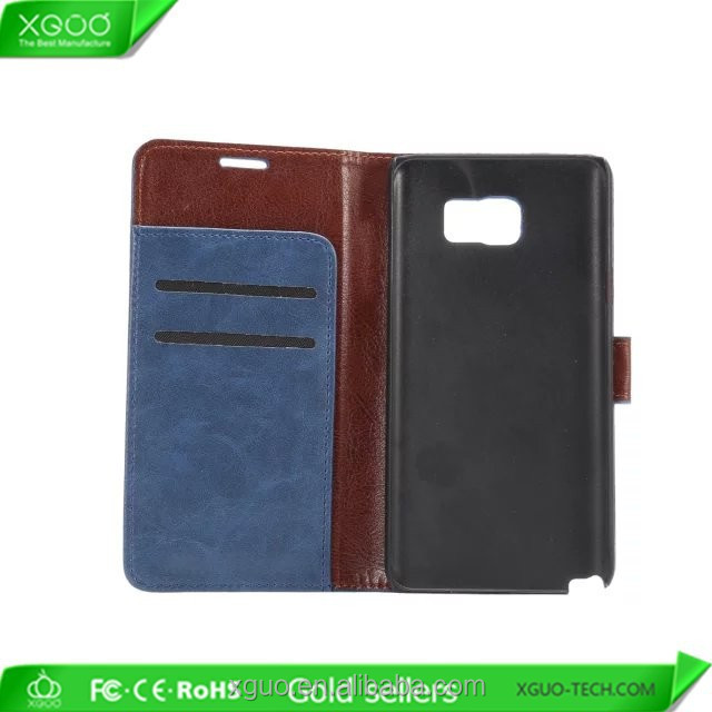 fashion material guess wallet clutch phone case For Samsung Galaxy Note 5 with cars slot and holder
