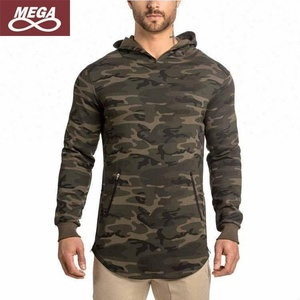 Gym Man Fleece Pullover Camo Hoodie Fitness Jogging Clothes