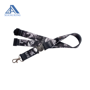Full logo printed funny ID lanyard name badge lanyard strap wholesale