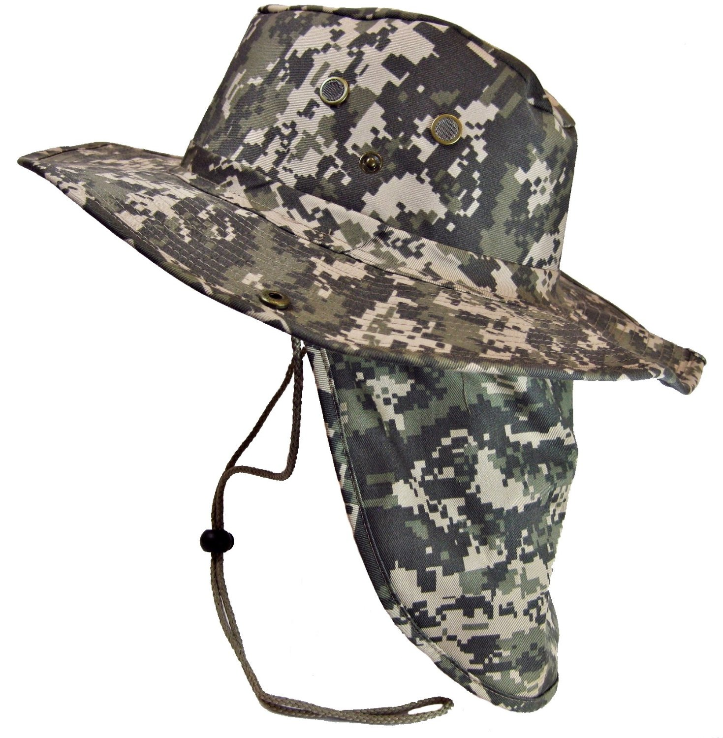 eae5baecec8 Military Camouflage Boonie Bush Safari Outdoor Fishing Hiking Hunting Boating  Snap Brim Hat Sun Cap with
