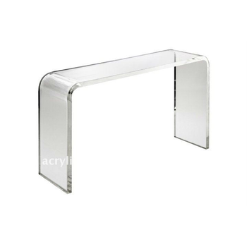 Beau Transparent Acrylic Lucite Waterfall Console Table