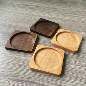 Black walnut wood coaster, dining table mat for hot food,cup mat pad table protector