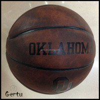 Souvenir use Antique leather basketball