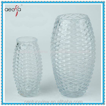 Two Size Cheap Clear Single Oval Shaped Bubble Glass Vases Buy
