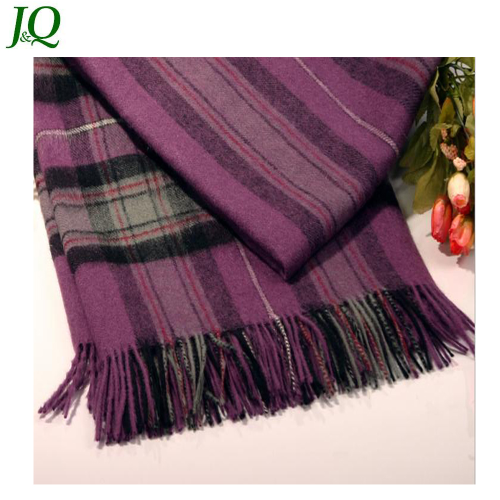 Best-selling Classical Check Fluffy Fine Wool Acrylic Shawls Scarfs