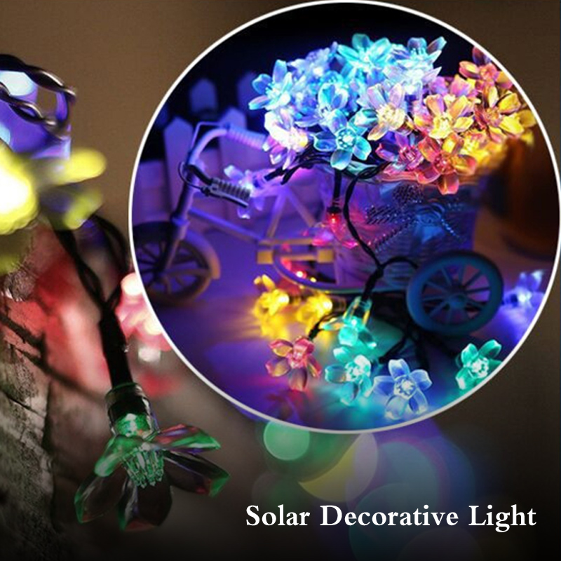 Solar Christmas Lights 50 LED Ambiance Lighting for Outdoor Patio Lawn Landscape Fairy Garden Home Wedding