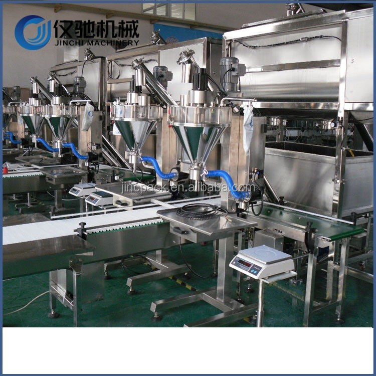 Food grade condiment powder tin can baby cereal packaging machine