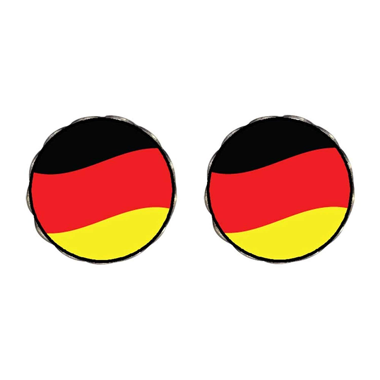 GiftJewelryShop Bronze Retro Style Germany Flag Photo Stud Earrings 10mm Diameter
