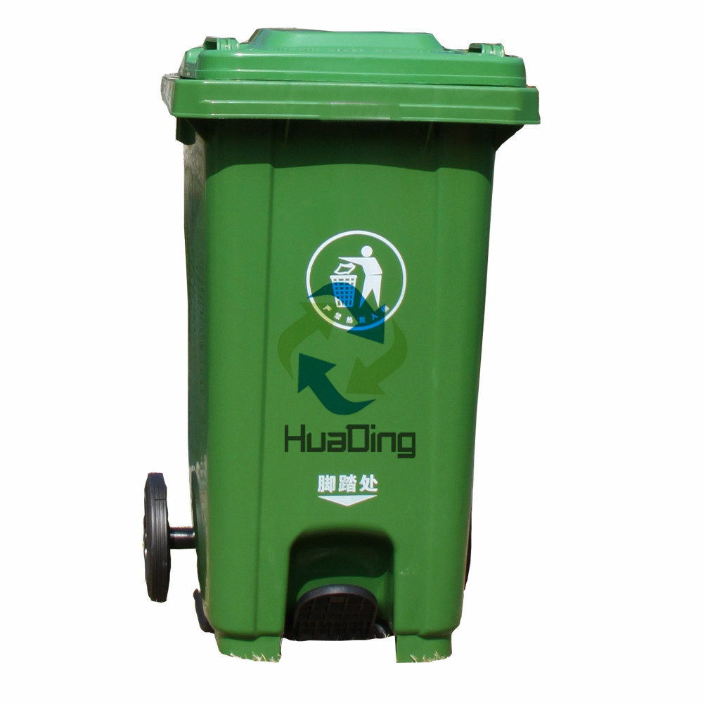 120L Professional factory made hotel flower recycle plastic garbage can