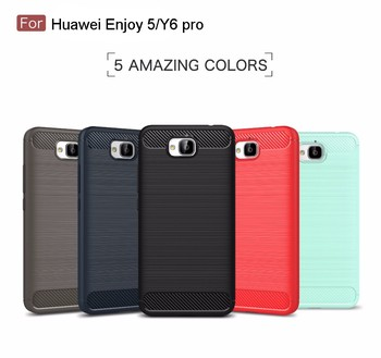 new arrival f22a6 c7a4d Carbon Fiber Brushed Tpu Case For Huawei Enjoy 5,For Huawei Y6 Pro Back  Cover - Buy For Huawei Y6 Pro Back Cover,For Huawei Y6 Pro Back Cover,Case  For ...