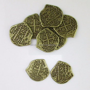 Antique Bronze European Spain Pirate Doubloon Toy Coins Treasure Chest For  Kids - Buy Pirate Doubloon,Doubloon Coin,Toy Coin Product on Alibaba com